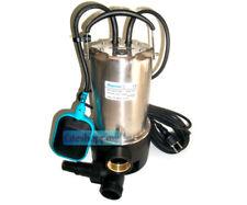 Pompa sommersa acciaio inox 0,75 hp idrovora fogna acque sporche chiare pluviali