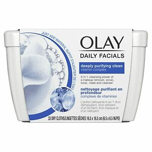 Olay Daily Facials Deeply Purifying Clean Cleansing Cloths