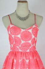 Windsor $80 Neon Pink Evening Prom Formal Cruise Dress Short size 11 NEW Gown
