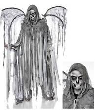 "Kostüm "" Angel of Death "" Set Herren Todesengel Horror Fransencape Halloween"