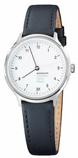 Mondaine MH1.R1210.LB Helvetica No1 Regular Women Black Leather Watch New in Box