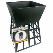 ProLiving Feuerkorb 2in1   Stahlblech   Feuerständer mit Schale Outdoor schwarz