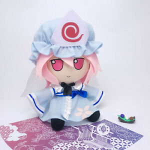 TouHou Project Fumo Saigyouji Yuyuko Plush Rag Doll Soft Mask Cute Toys Sit Hot