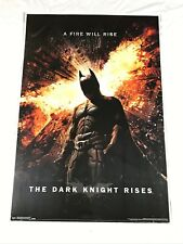 "The Dark Knight Rises Movie Poster / 'A Fire Will Rise' / 36"" x 24"" / Batman New"