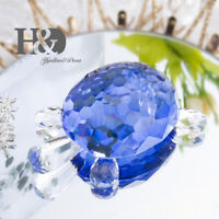 Crystal Figurines Glass Turtle Ornament Animal Collectibles Lady Gift Home Decor