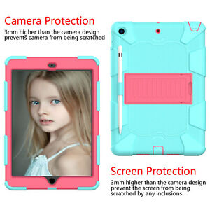 Shockproof Heavy Duty Rugged Case Cover For iPad 8th 7th 6th 5th Air 2 Mini 5 4