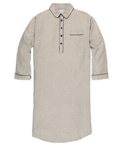 New! RARE $268 Francis Mallmann x Best Made Co. Company. linen night shirt.