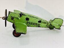 Rare Small Sized Hubley Bremen Cast Iron Airplane - Nice!