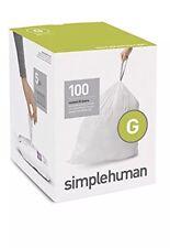 Simplehuman code/size G (30 litres) bin bag liner, CW0237 (Box of 100)