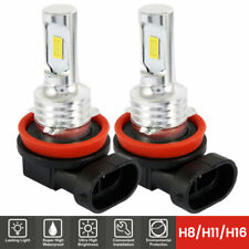 2x H11 H9 H8 LED Fog Light Headlight Bulbs 6000K CSP Xenon Cool White Lamps UK