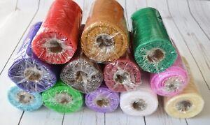 Florist wrap/Deco mesh 15cm x 9 metre - various colours