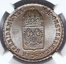 1816-A Österreich 1 Ein Kreuzer Kupfer Münze - NGC MS 65 BN - KM# 2113