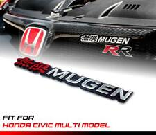 Black Chrome MUGEN Logo Emblem Badge Honda Civic Multi Model Universal Car