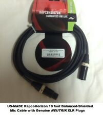 10 ft US-MADE 3 pin XLR Male to Female Microphone Balanced Shielded Audio cable