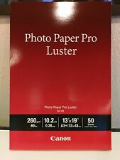 "Canon Pro Luster Photo Paper, 13"" x 19"" (50 Sheets) (LU-101 13X19) New A3+"