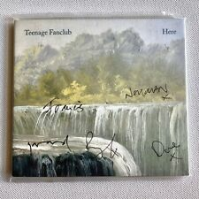 TEENAGE FANCLUB - HERE HAND SIGNED SEALED AUTOGRAPHED CD