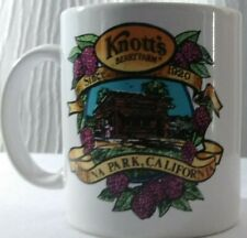 Knott's Berry Farm Buena Park, CA Coffee Mug Cup 8 oz Open Handle White/ Logo