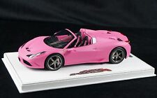 1/18 BBR FERRARI 458 SPECIALE A SPIDER MATT QATAR PINK WHITE BASE LE 10 PCS N MR