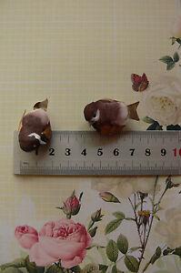 Mushroom Bird BROWN & TAN 2pk -18mmHigh x 37mmLong x22mmWideTouch of Nature