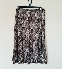 JM Collection Womens Midi Lace Sheer Skirt Size XL Black White Gray Unlined
