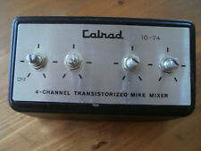 Mélangeur 4 micros CALRAD 10-74 Japan 60's