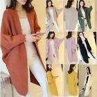 Women Oversize Batwing Sleeve Knitted Sweater Loose Cardigan Outwear Coat lot ST