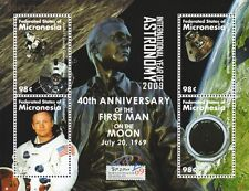 NEIL ARMSTRONG First Man on Moon / Apollo XI Lunar Module / Space Stamp Sheet