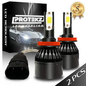 9004 HB1 LED Headlight Kit 1800W Protekz 4-Sided Light Bulbs White 6000K HID