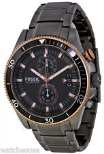 Fossil CH2948 Wakefield Black Dial Ion Plated Stainless Chronograph Men's Watch