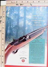 2001 RUGER New 44 Magnum Model 99/44 DEERFIELD Carbine Rifle Vtg Print Ad 6136