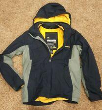 Abercrombie Boys XL Mens S Youth Lined Fleece Hoodie Coat Jacket Pockets NICE