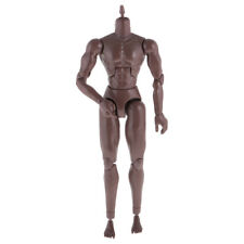 "1:6 12"" Black Skin Tone Male Wide Shoulder Muscular Action Figure Body Model Toy"