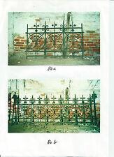 antiker schmiedeeiserner Zaun mit seltenem Tor mit Krone um 1900,