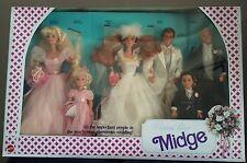 MIDGE WEDDING PARTY GIFT SET - Alan Barbie Kelly Ken Todd - Mattel # 9852 - 1990