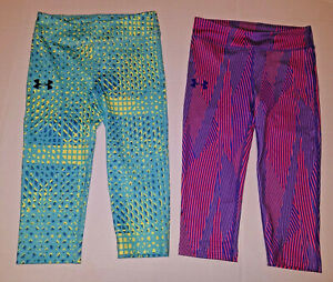 Under Armour Girl cropped Leggings S YS Small New athletic clothes