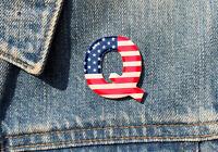 QAnon WWG1WGA MAGA Great Awakening American Flag Q Anon Pin