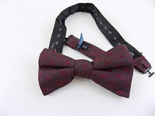 "RYAN SEACREST $65 Red Polka Dot MEN WIDTH 2.5"" 100% Silk Bow Tie ADJUSTABLE M06"
