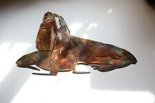 Sea Lions Metal Wall Art copper/bronze plated