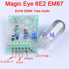 Magic Eye 6E2 EM87 6UH6 EM84 Tube Audio Indicator Low Level Input DIY Board