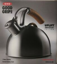 OXO 2 Qt 10th Anniversary Edition Brew Uplift Tea Kettle Brushed Stainless Steel