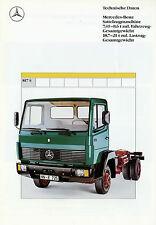 Mercedes 817 S SZM 7,49 8,6 t Prospekt 1991 Technische Daten 5/91 LKWs Lastwagen