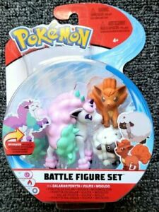 2021 New Pokemon Battle Figure Set Galarian Ponyta Vulpix Wooloo 3 Pack