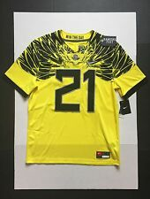 Nike Oregon Ducks Limited plus Football Jersey #21 Yellow Mens  Size M