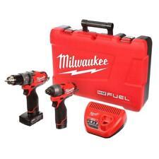 Milwaukee 2597-22 12V M12 Fuel 2 Tool Kit Hammer Drill Impact Driver & Batteries