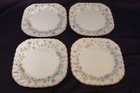 "Johnson Brothers SUMMER CHINTZ  England Square Salad Plates 7-1/2""  Set of 4"