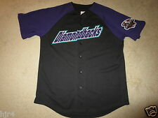 Arizona Diamondbacks 2001 D-Backs MLB World Series Black Jersey LG L