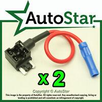 2 - Add A Circuit Fuse Tap Piggy-Back MICRO Fuse Holder APS ATT mini LOW PROFILE