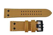 GenuineLuminox 26mm Light Brown 1920 1940 watch Band Strap Black Buckle & Rivets