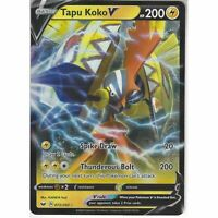 072/202 Tapu Koko V | Rare Holo V Card Pokemon TCG Sword and Shield S&S Base Set