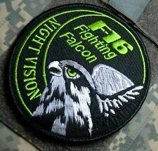 F-16 FIGHTING FALCON SWIRL INSIGNIA PATCH: F-16 Night Vision (BURDOCK-HOOK)
